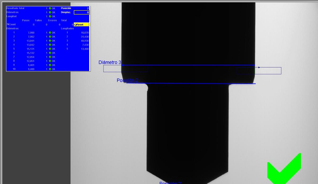 medición de cotas por vision artificial